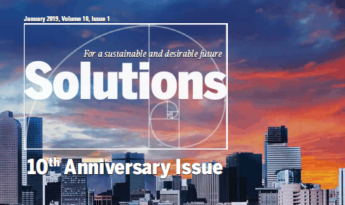 "Solutions Journal's 10th Anniversary Issue Features Hunter's Article: ""Regenerative Community Hubs: Creating a Finer Future in your Place"""
